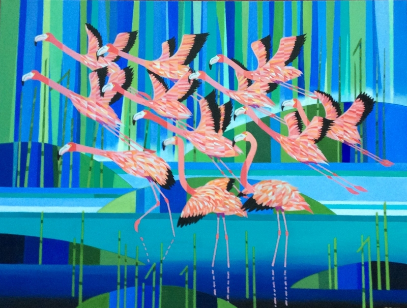 Peter Waller - Flamingoes